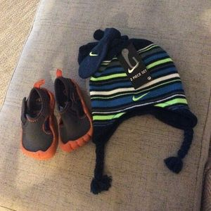 Nike Hat And Mitten Set & Speedo Shoes